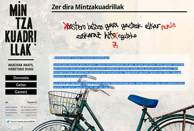 Mintzakuadrillak:  gazteek euskaraz hitz egiteko espazio berria
