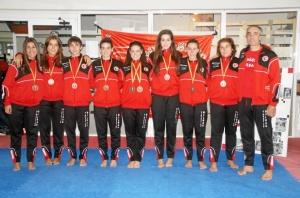 Jone, junto al resto del equipo en Turquía. FOTO: Club Gimnástico Bilbao