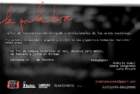 Bilbaoeszena impulsa un taller para que los actores recuperen la palabra como vía de expresión
