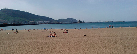 Vista de la playa de Ereaga (Getxo) este martes al mediodía. FOTO: Archivo