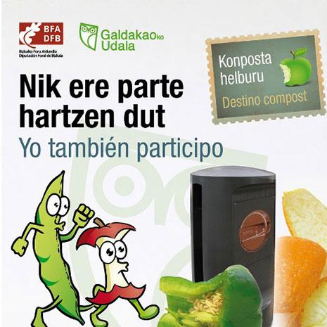 Casi 2.000 hogares de Galdakao participan en la recogida de residuos vegetales