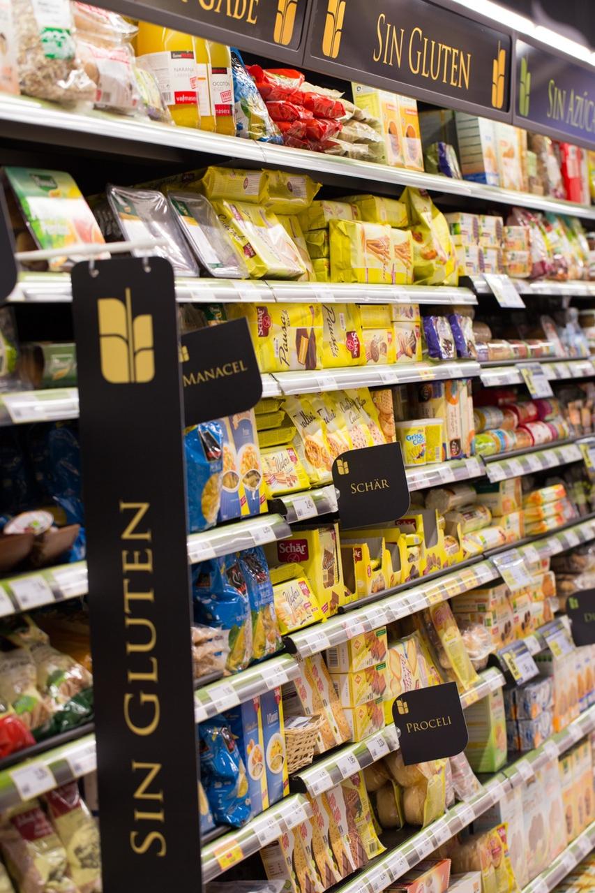 Colectivo de alimentos sin gluten.