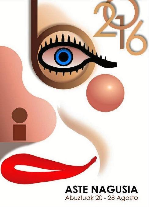 Cartel de las fiestas Aste Nagusia 2016.