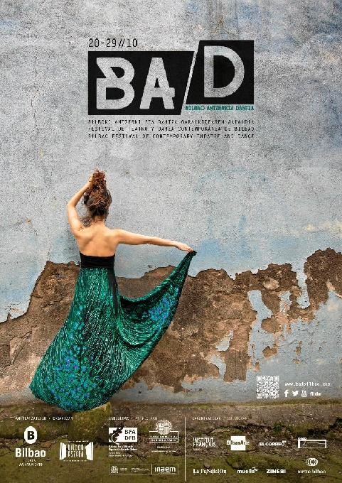 Cartel diseñado por Inés Bermejo para la XVIII Edición de Bad- Festival de Teatro y Danza Contemporánea de Bilbao.