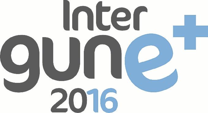 Logo de INTERGUNE+ 2016, evento sobre la internacionalización empresarial.