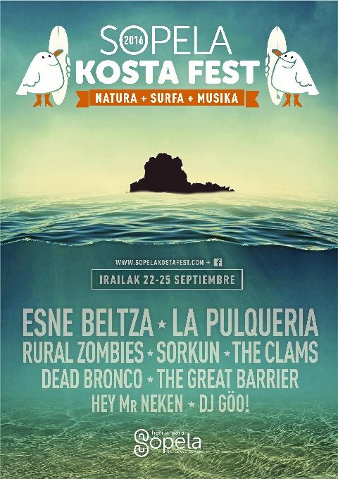 Esne Beltza y La Peluquería encabezarán la tercera edición del Sopela Kosta Fest