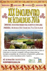 Cartel del XIX Encuentro de Ecoaldeas.