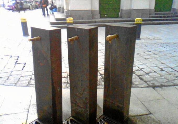 Instaladas siete fuentes provisionales en las calles de Bilbao para hacer frente a las altas temperaturas previstas durante los próximos días