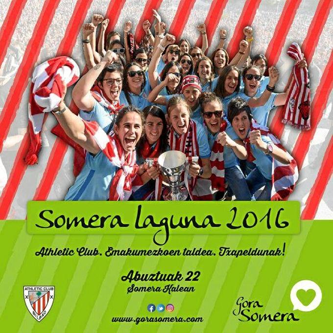 El equipo femenino del Athletic Club de Bilbao recibirá el 'Premio Somera Laguna 2016'