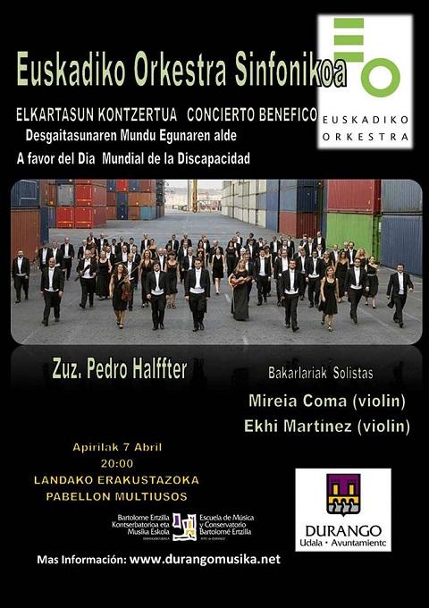 La Orquesta Sinfónica de Euskadi ofrece un concierto benéfico con motivo del Día Mundial de la Discapacidad