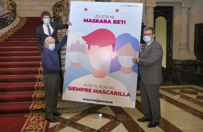 """""""Por ti, por mí, siempre mascarilla"""", campaña del Gobierno Vasco"""