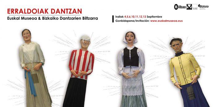 Gigantes y Cabezudos bailarán en el claustro del Museo Vasco