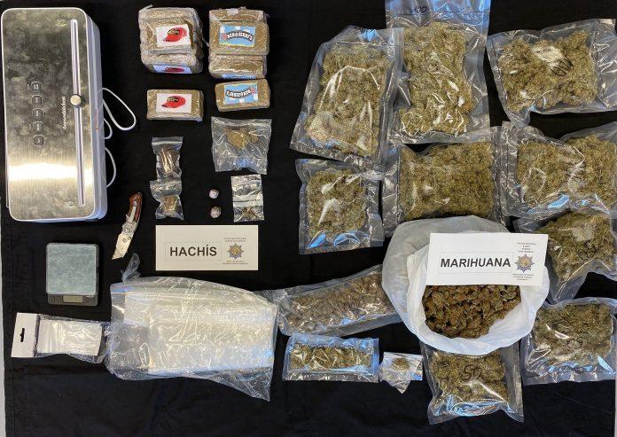 Detenido a un hombre en Santutxu por tráfico de drogas